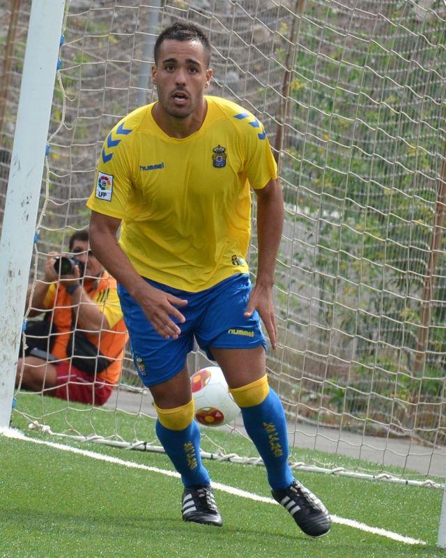 Ayoze Placeres con Las Palmas Atlético: Foto: TintaAmarilla