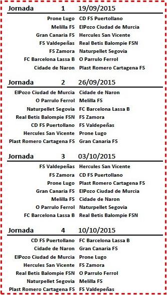 Calendario (jornada 1 a 4)-