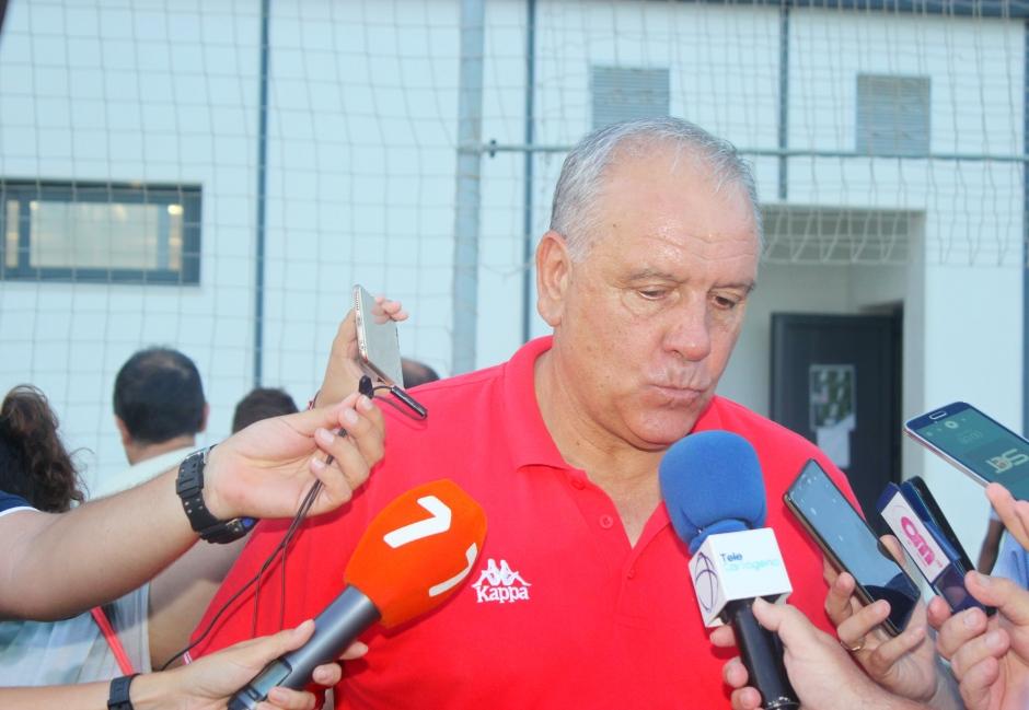 Carlos Trasante post partido contra FC Cartagena-Foto: Pedro Gómez (Crónicas deportivas de Cartagena).