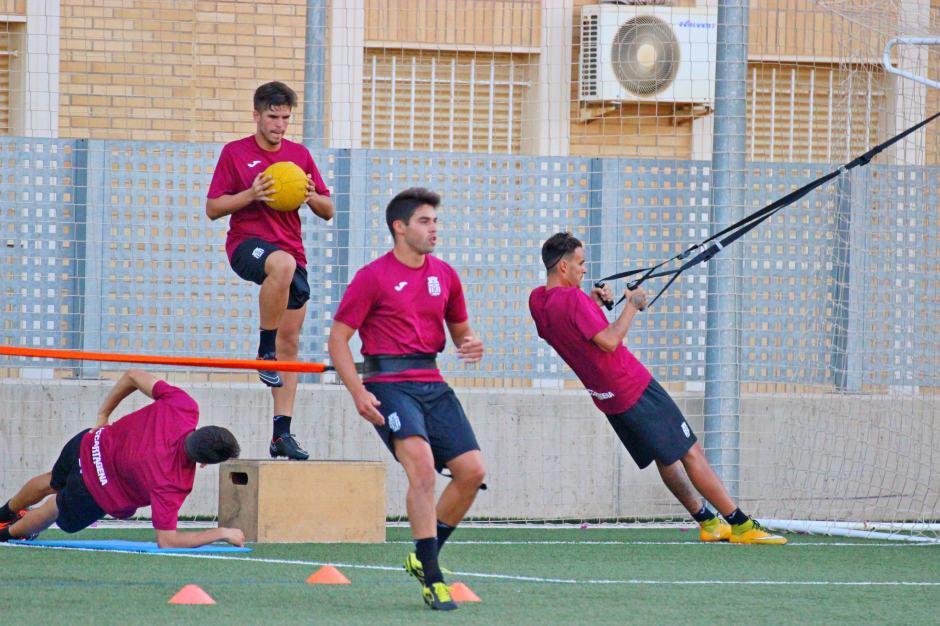 Entrenamientos del FC Cartagena 2015 16-. Foto: Pedro Gómez (Crónicas deportivas de Cartagena).