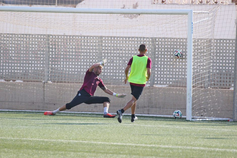 Entrenamientos del FC Cartagena 2015 16., Foto: Pedro Gómez (Crónicas deportivas de Cartagena).