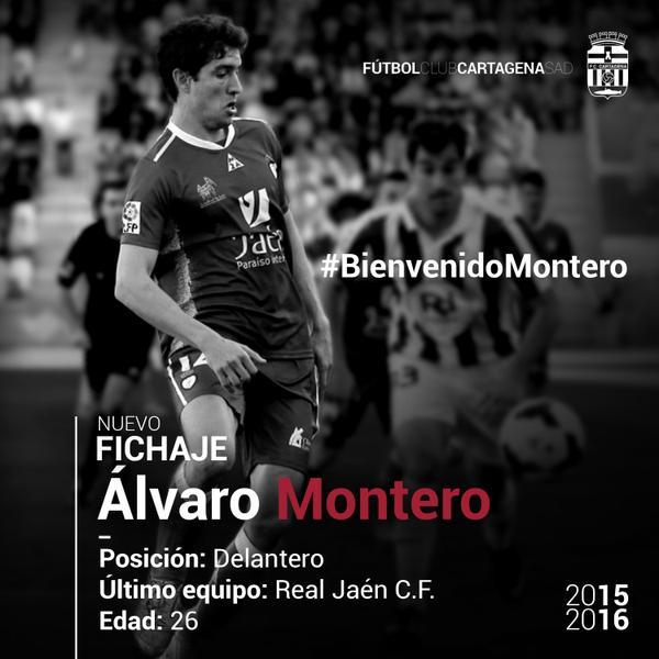 Fichaje de Álvaro Montero