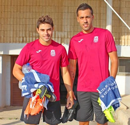 Jesús Álvaro y Ayoze Foto: Pedro Gómez (Crónicas deportivas de Cartagena)