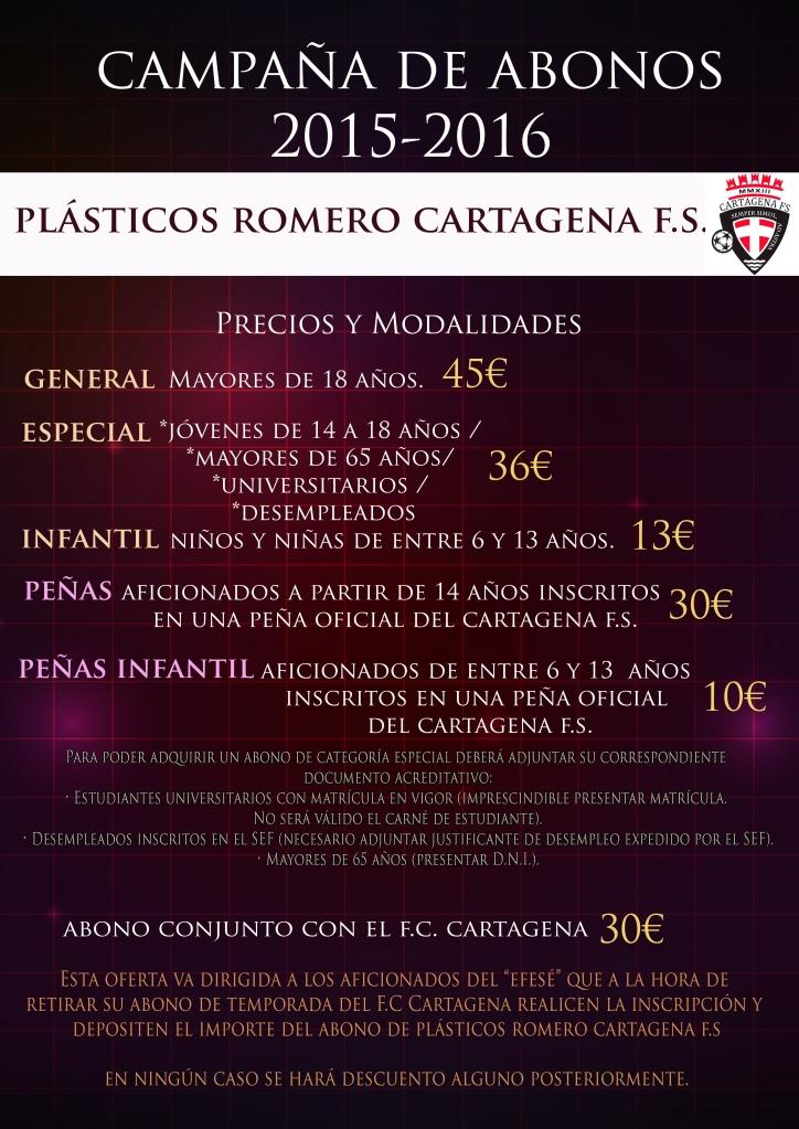 Precios ABONOS Plásticos Romero Cartagena FS 2015 16
