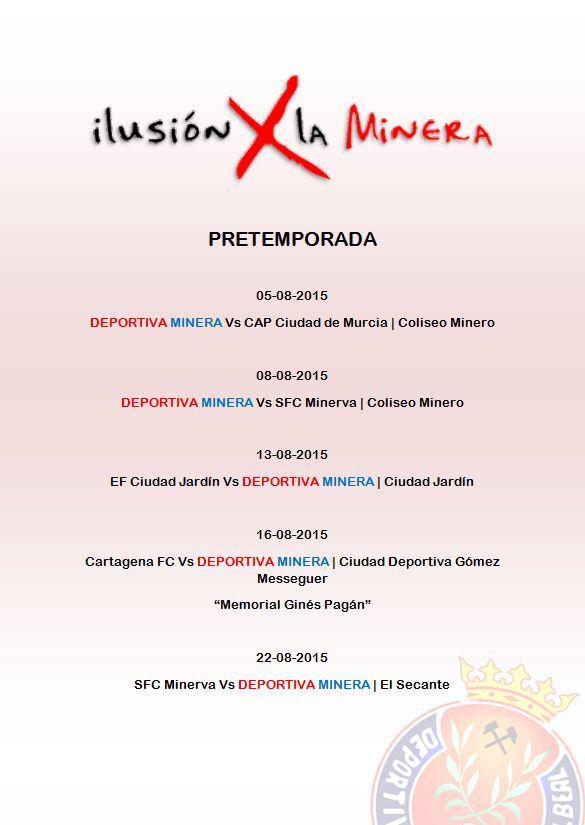 Pretemporada Deportiva Minera