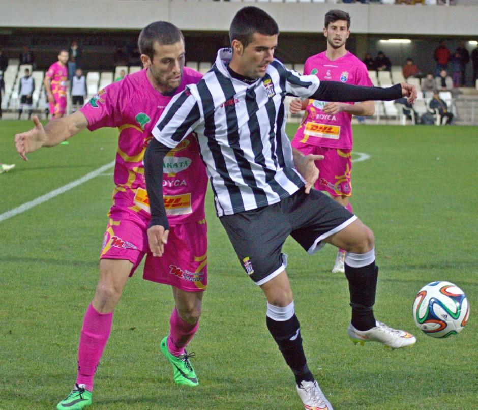Santisteban con el FC Cartagena. Foto: Pedro Gómez (Crónicas deportivas de Cartagena).