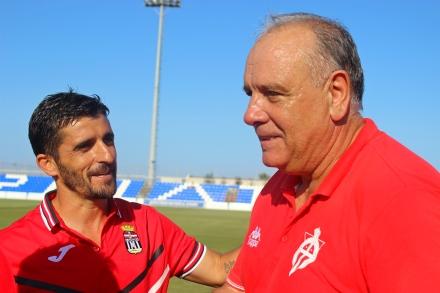 Víctor Fernández y Carlos Trasante Foto: Pedro Gómez (Crónicas deportivas de Cartagena)
