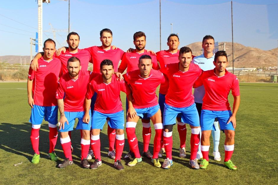 Alineación de la Deportiva Minera contra el Cartagena FC. Foto: Pedro Gómez (Crónicas deportivas de Cartagena).