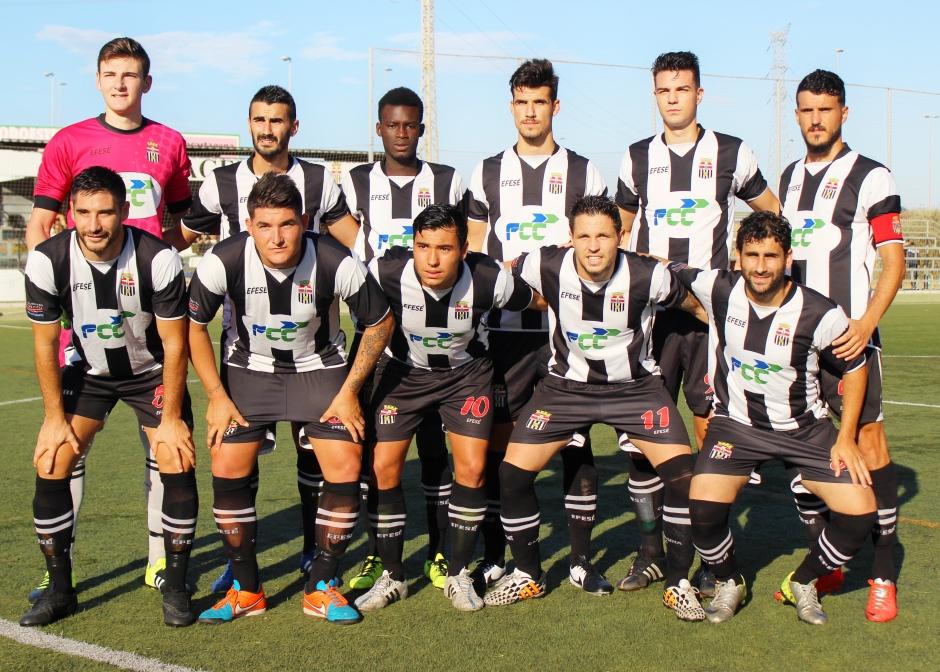 Alineación del Cartagena FC contra la Deportiva Minera. Foto: Pedro Gómez (Crónicas deportivas de Cartagena).