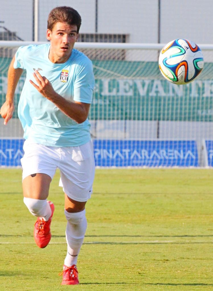 Álex Jiménez con el FC Cartagena. Foto: Pedro Gómez (Crónicas deportivas de Cartagena).
