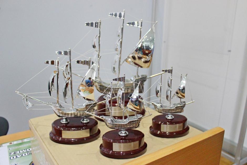 Carabelas de Plata del Trofeo de juveniles. Foto: Pedro Gómez (Crónicas deportivas de Cartagena).