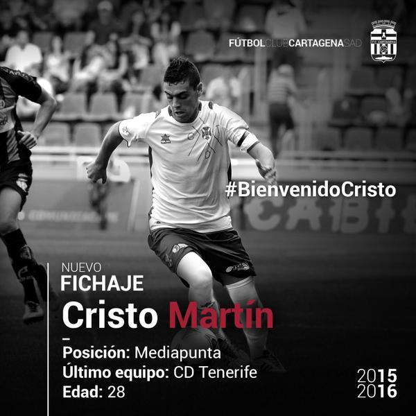 Fichaje Cristo Martín FC Cartagena