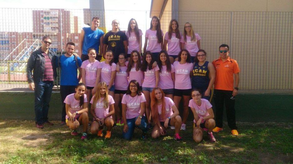 Cadetes del UCAM Atletismo Cartagena