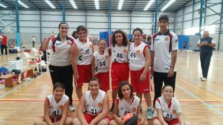 Mini femenino Escuela de baloncesto Salesianos Cartagena